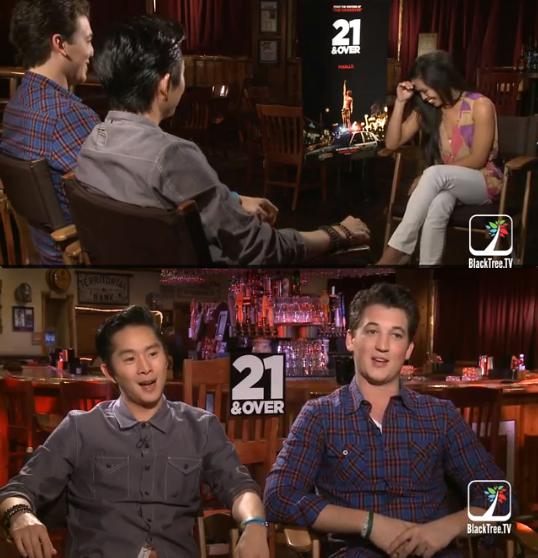"""Interviewing Justin Chon, """"Jeff Chang"""" & Miles Teller, """"Miller"""""""