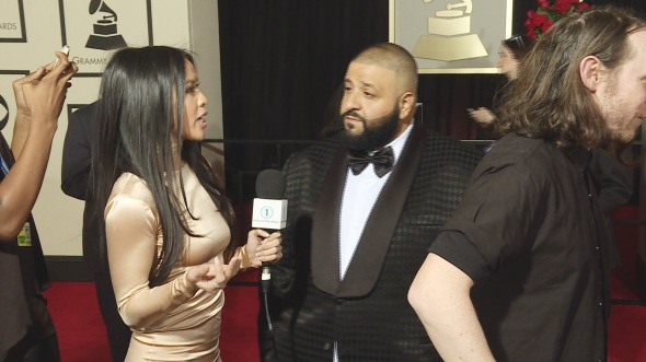 Azia Celestino with DJ Khaled