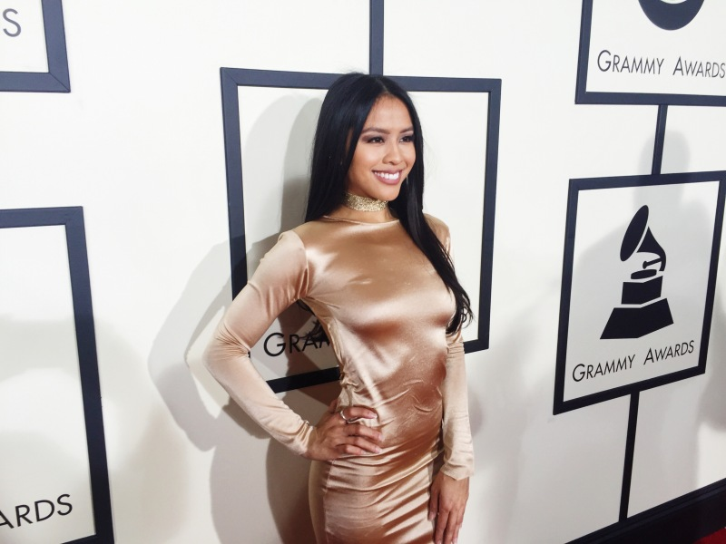 Azia Celestino at the Grammy Awards