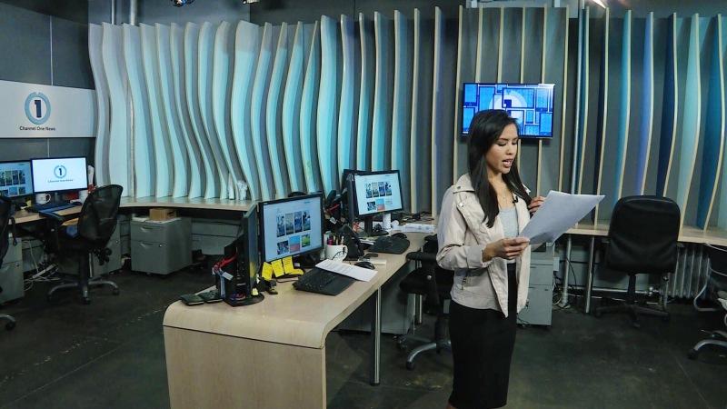 Azia Celestino runs Channel One News