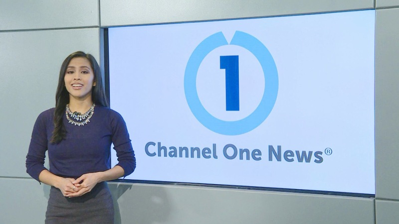 Azia Celestino at the Channel One News