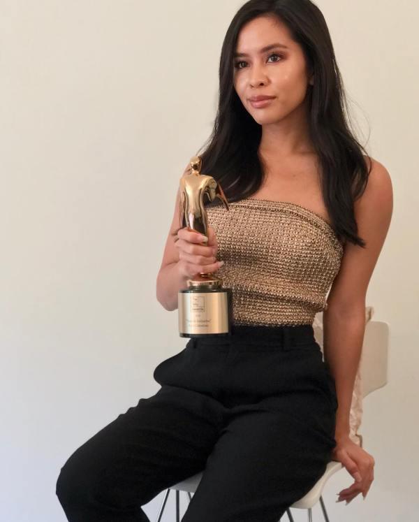 Azia Celestino Telly Award Journalist