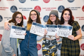 Teens getting involved in Safe and Sound School's #IChooseTo campaign